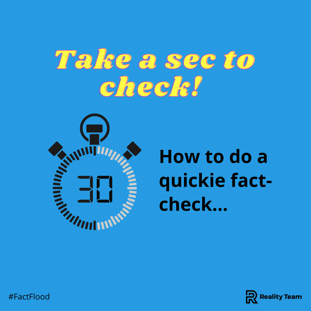 How to do a quick fact check.