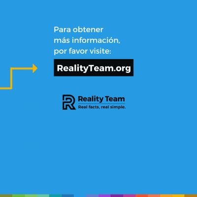 Para obtener mas informacion, por favor visite realityteam.org.