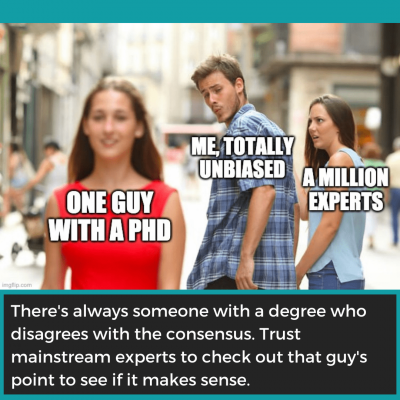 Fake Expert Example: The Lone Dissenter